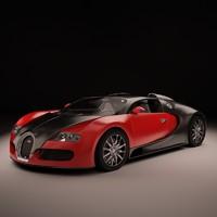 3d bugatti veyron sport luxury model