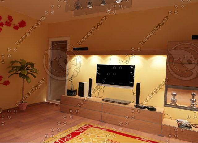 3d living furnitures 05 model