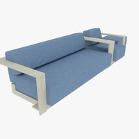 3ds max sofa polygonals
