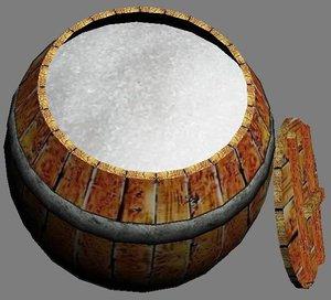 3dsmax wooden barrel sugar