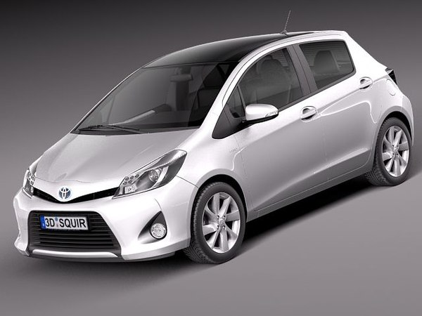 toyota yaris 2013 hybrid 3d model