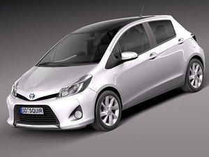 toyota yaris 2013 hybrid 3d model