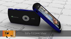 sony ericsson vivaz 3d model