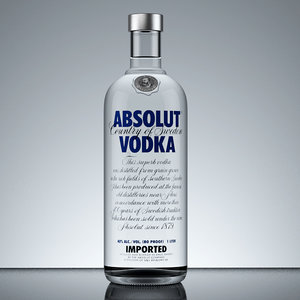 max absolut vodka bottle