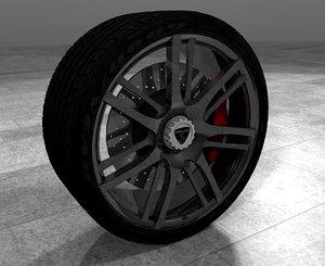 free wheel zenvo st1 3d model