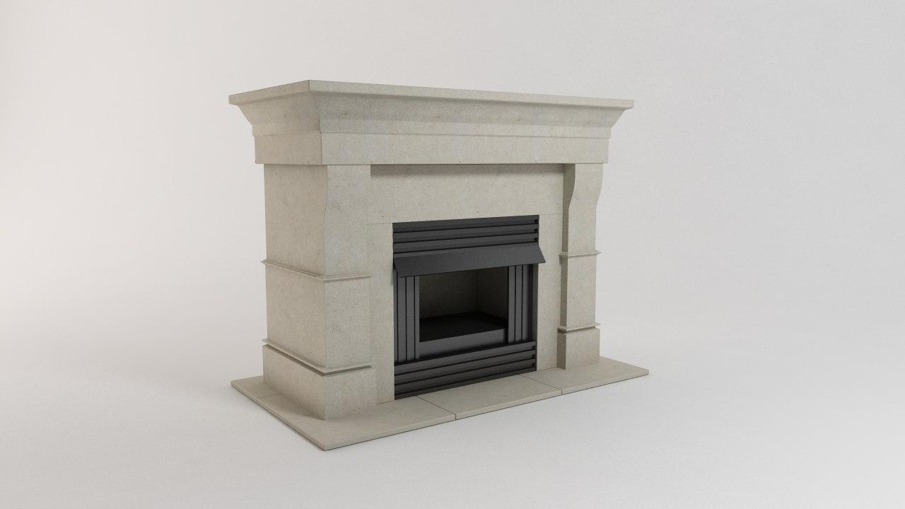3d 3ds fireplace