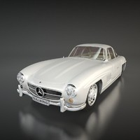 mercedes 300 sl gullwing 3ds
