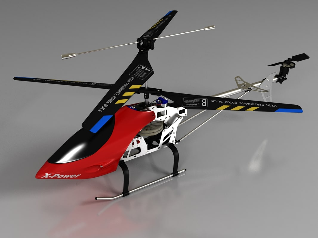 3d model helicopter pioneer mx