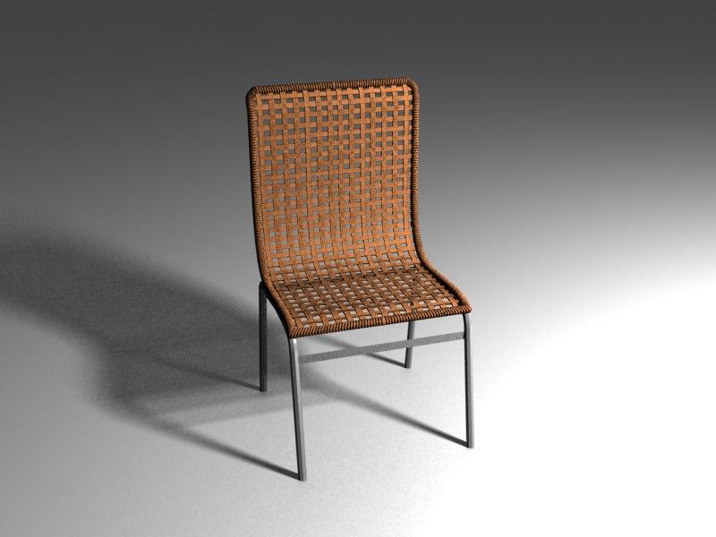 straw chair ikea 3d max