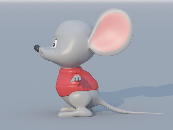 3d model cartoon mouse