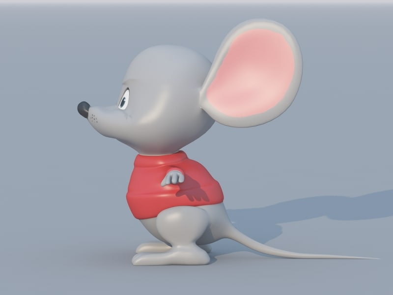 3d model cartoon mouse