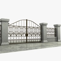 Wrought Iron Gate 03