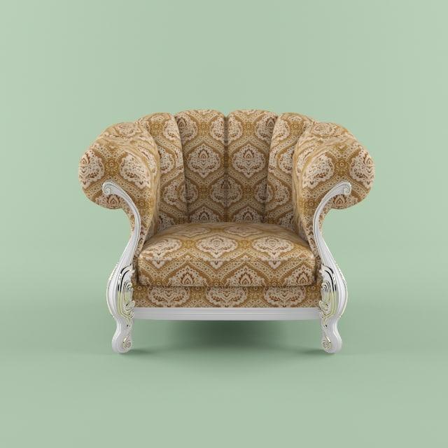 3d model of armchair fratelli radice