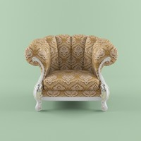 3d model of armchair fratelli radice