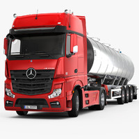 3d mercedes-benz actros tank trailer model