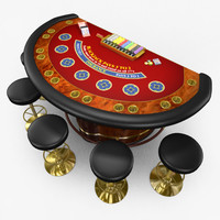 Casino BlackJack Table - Red(1)