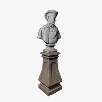3d model sculpture bust man