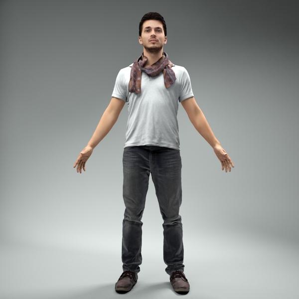 3d body rigged skin model