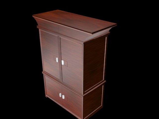 3d model standing closet