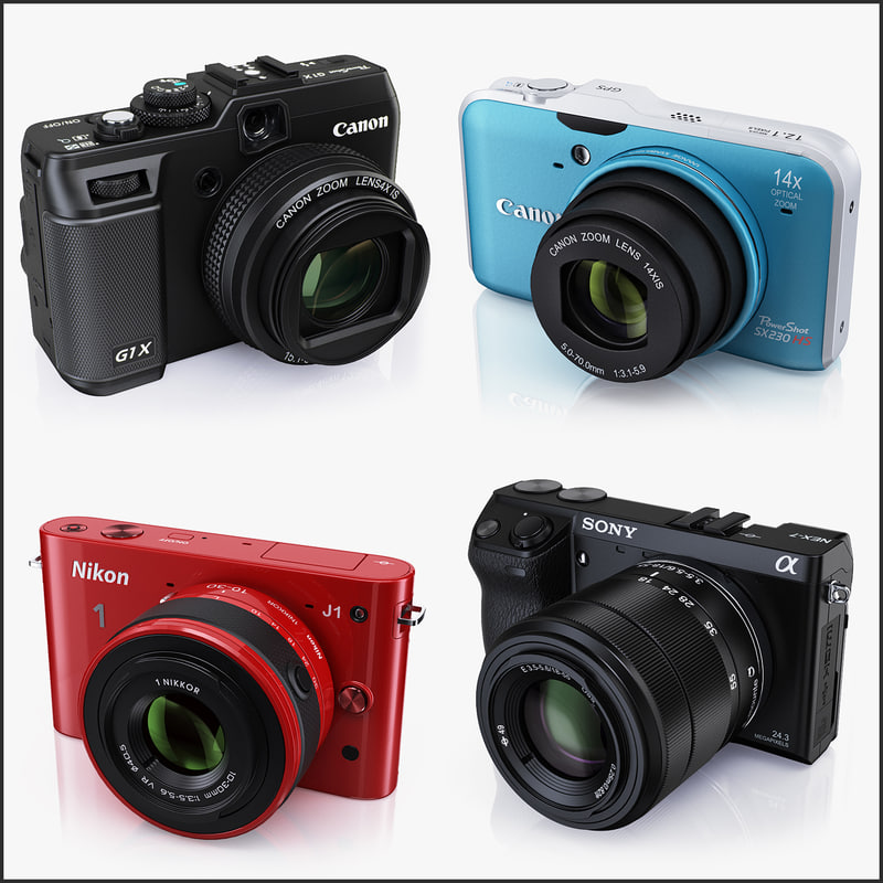 3d model compact digital cameras
