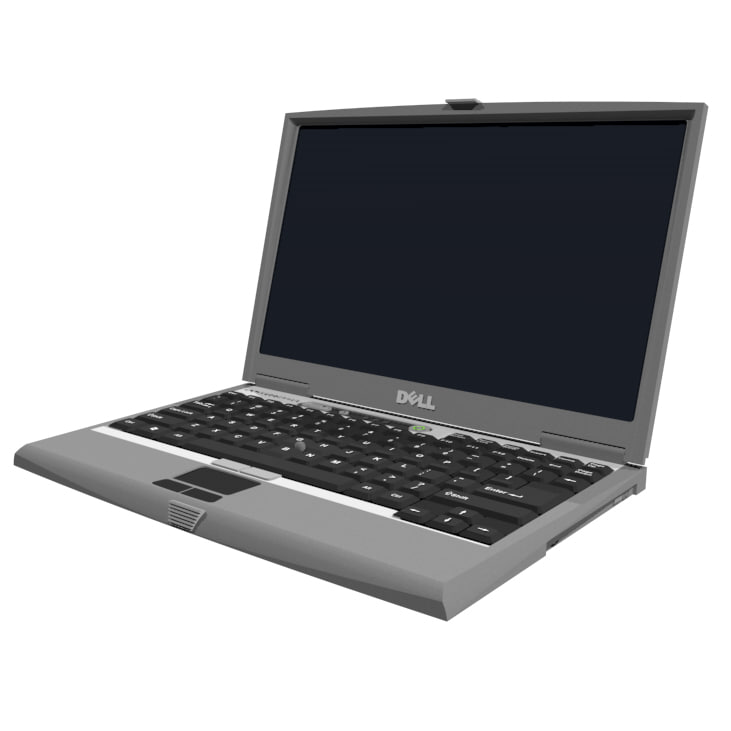Laptop Computer: Cinema 4d Format