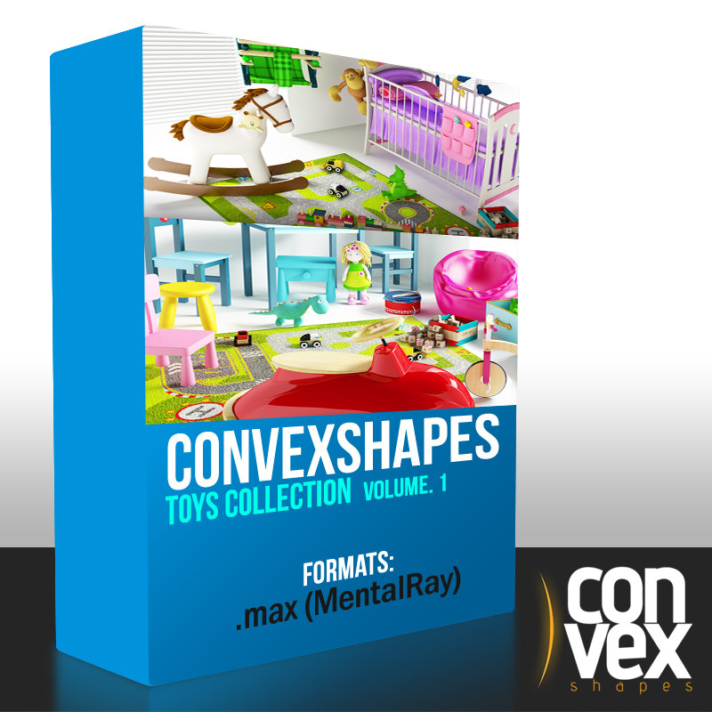 convexshapes toys mentalray max