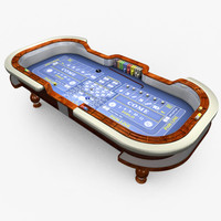 Casino Craps Table - Blue