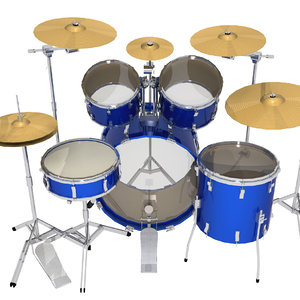 3d model drums percussion instrument
