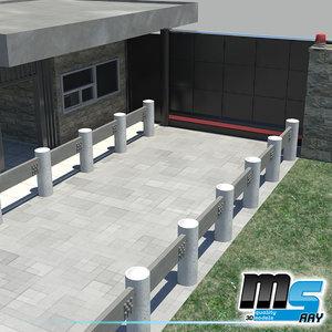 3d car security gate