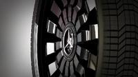 3d model wheel mercedes