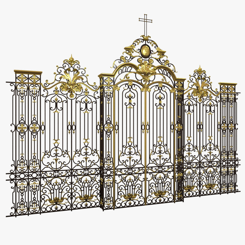3d gate french cathedral