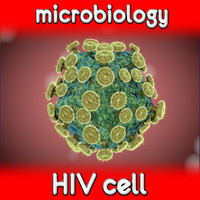 hiv virus cell 3ds