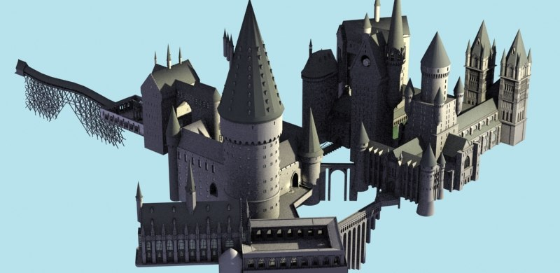 castle quidditch pitch 3d max