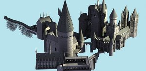 castle quidditch pitch 3d max