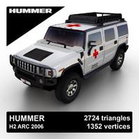 3d hummer h2 suv 2006 model