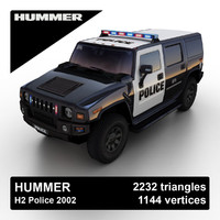 h2 police suv 3ds
