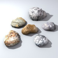 Low poly Ground Level Rocks