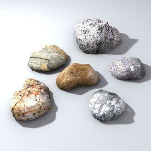 3d stones levels model