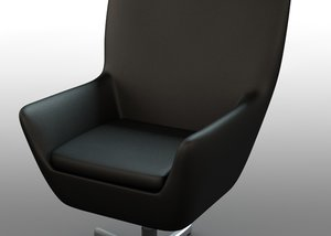 3ds max office leather chair