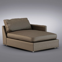 Crate and Barrel - Lounge Right Arm Sectional Chaise