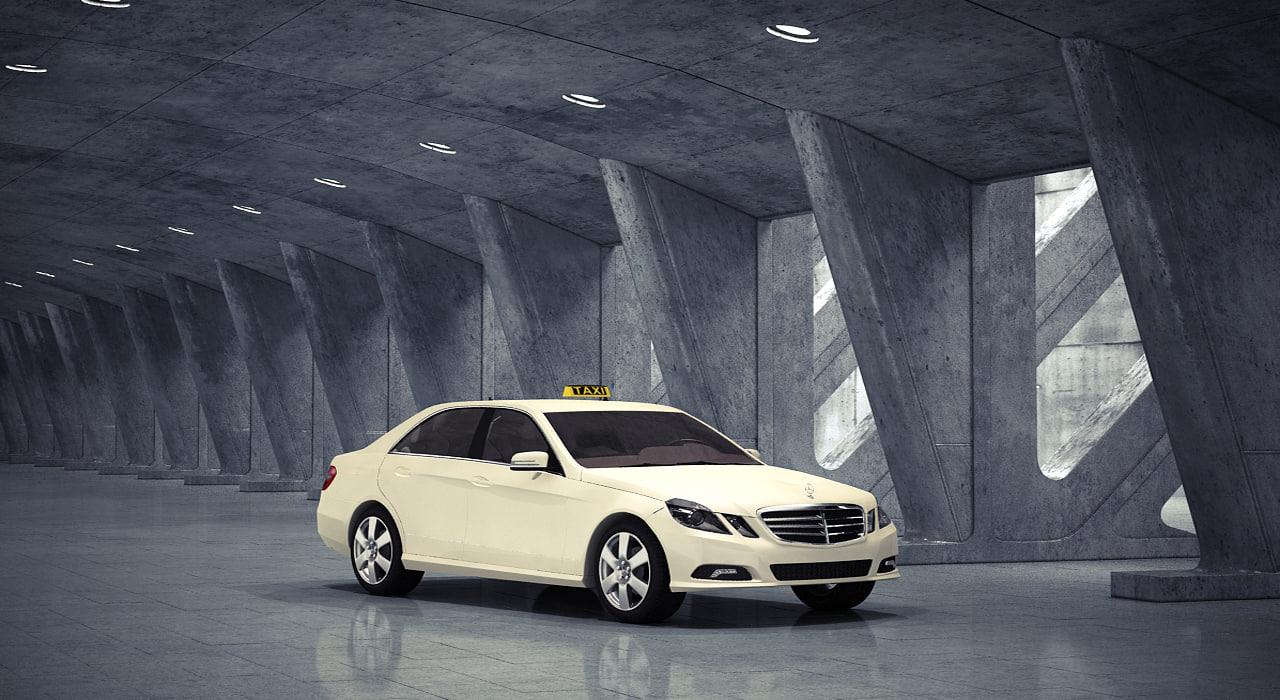 3d model mercedes benz e-class 2012