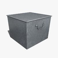 box galvanized 3d max