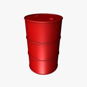 oil drum barrel 3d model