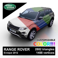 Range Rover Evoque 2012 Custom Colors