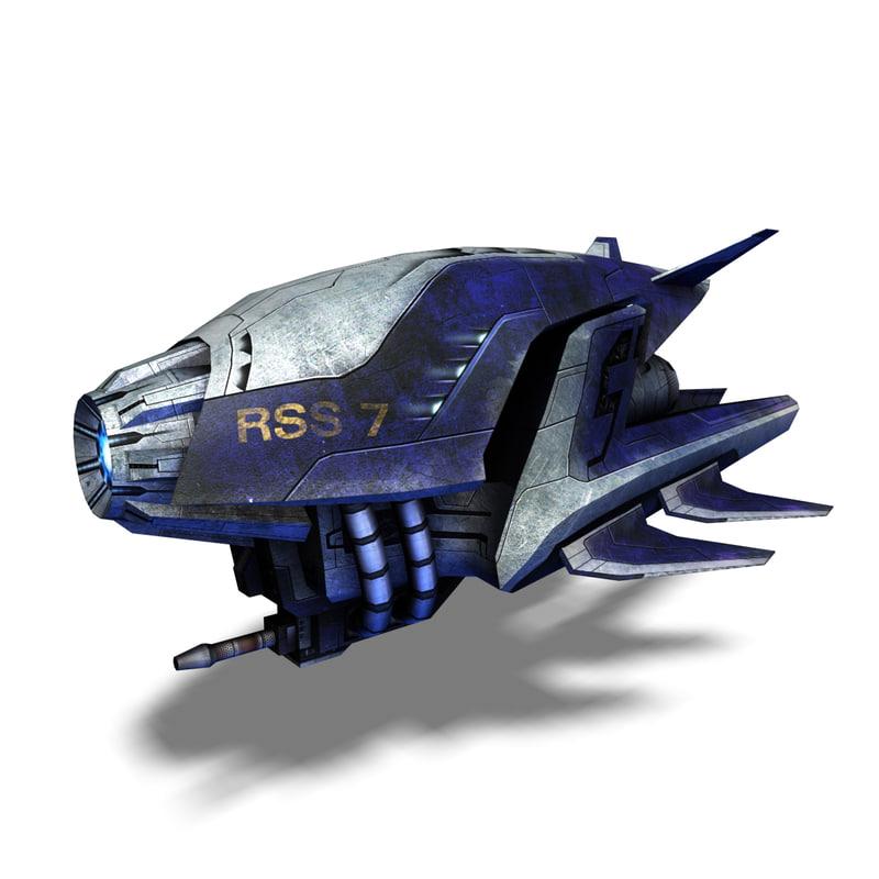 3d model spaceship design