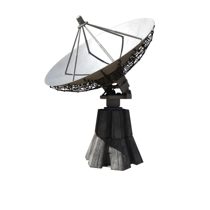satellite dish 3d ma