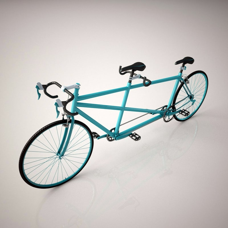 3d tandem bicycle model