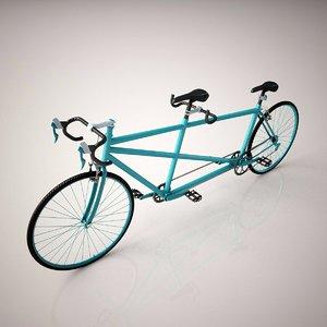 3d tandem bicycle model