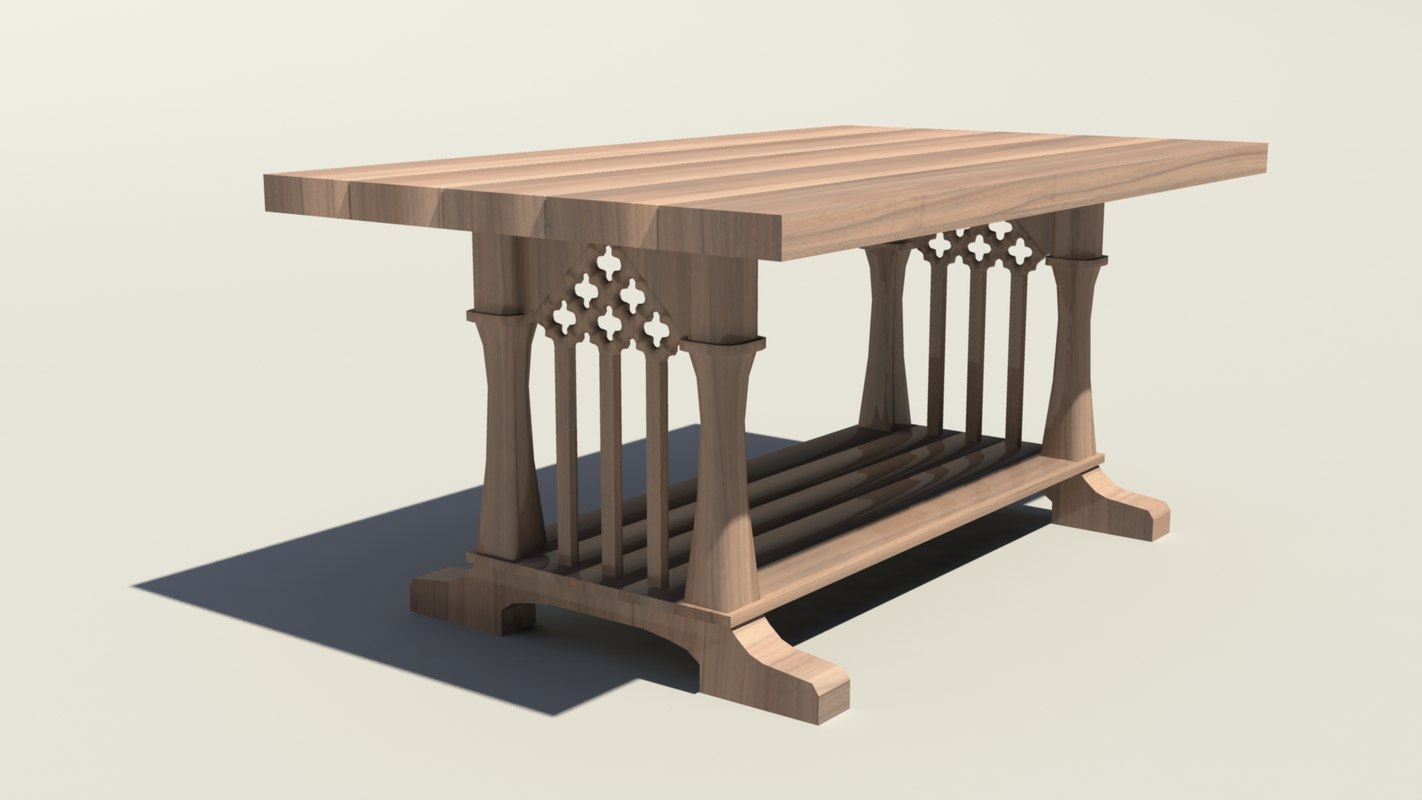 maya heavy wooden table