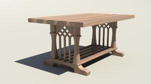 maya heavy wooden table